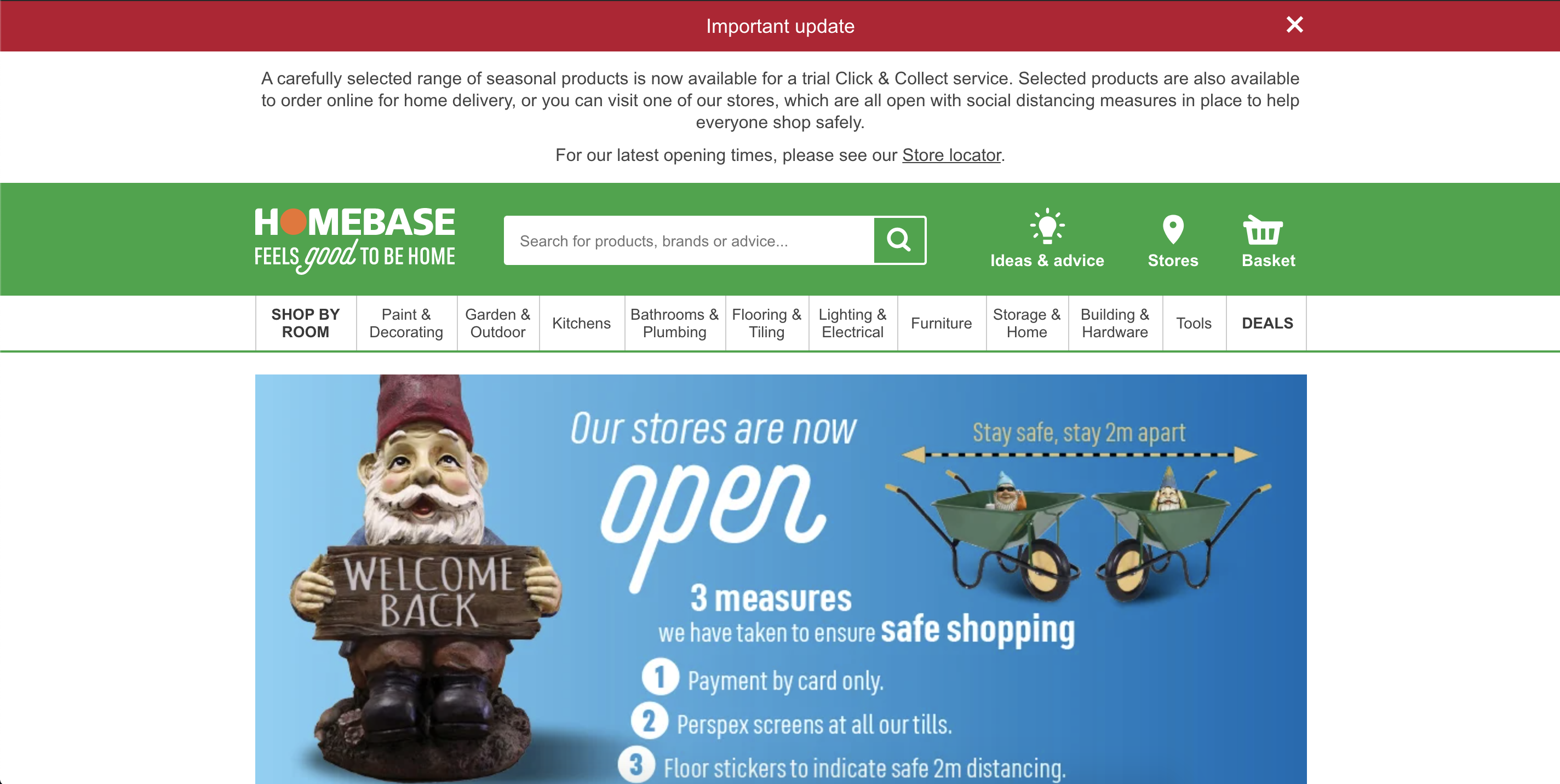 Homebase home page